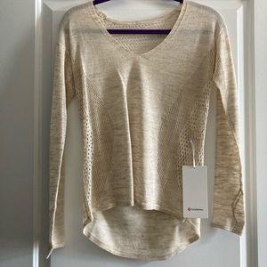 Still Movement *linen sweater. Lululemon NWT.